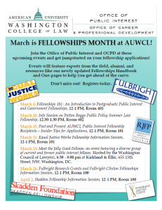 Fellowships Month